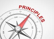 Kompass på vit bakgrund, principbegrepp royaltyfri illustrationer