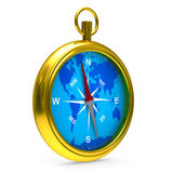 Kompass på vitbakgrund vektor illustrationer