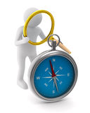 Kompass på vitbakgrund royaltyfri illustrationer