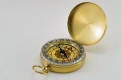 Kompass på white Arkivfoto