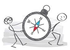 Kompass - riktningsreferens stock illustrationer