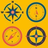 Kompass rosa illustraition för vind vind steg på bakgrund arkivfoton