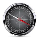 Kompass som bakgrund kan inramning metallbruk stock illustrationer