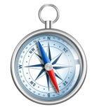 Kompass som isoleras på white stock illustrationer