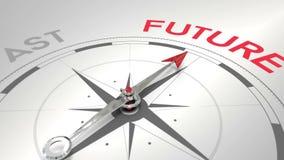 Kompass som pekar till framtid stock illustrationer