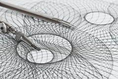 Kompass und geometrische Formen Stockbild