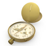Kompass und Karte Stockfoto