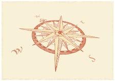 Kompass Windrose royaltyfri illustrationer