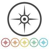 Kompass windrosesymbol royaltyfri illustrationer
