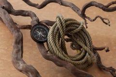 Kompassabenteuerreise Lizenzfreie Stockbilder