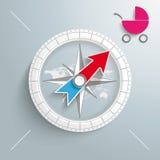 Kompassbarnvagn Fotografering för Bildbyråer
