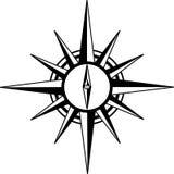 kompasset steg royaltyfri illustrationer