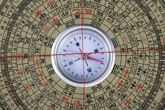 kompassfengshui Arkivfoto