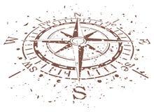 kompassgrunge royaltyfri illustrationer