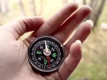 kompasshand Royaltyfri Bild
