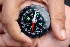kompasshand Royaltyfri Foto