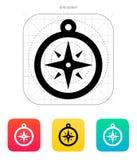 Kompassikone. Navigationszeichen. Stockfoto