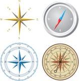 kompassillustrationvektor stock illustrationer