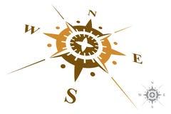 Kompasslogo som isoleras på vit bakgrund Royaltyfri Foto