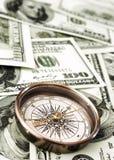 kompasspengartappning Royaltyfri Bild