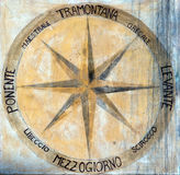 Kompassros eller ros av vindarna Fotografering för Bildbyråer