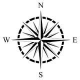 Kompassrosenvektor auf einem lokalisierten weißen Hintergrund Stockbild