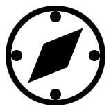 Kompassskårasymbol Arkivfoton