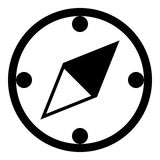 Kompassskårasymbol Royaltyfria Foton