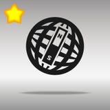 Kompasssvart lurar det högkvalitativa begreppet för knapplogosymbolet Stock Illustrationer