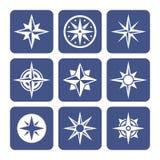 Kompasssymbolsuppsättning vektor illustrationer