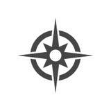 Kompasssymbolsvektor vektor illustrationer