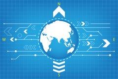 Kompasstechnologie Stockfoto