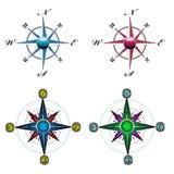 Kompassuppsättning Fotografering för Bildbyråer