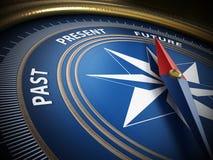 Kompassvisare som pekar framtid illustration 3d Arkivbilder