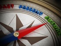 Kompassvisare som pekar framtid illustration 3d Arkivfoton