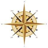 kompasu różany rocznika wiatr Obrazy Stock