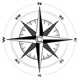 kompasu róży wiatr Zdjęcie Stock