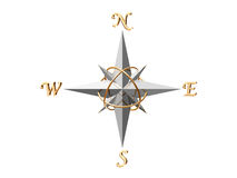 kompasu srebra Zdjęcia Stock