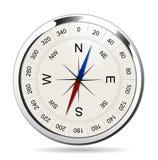 Kompasu srebro Obrazy Royalty Free