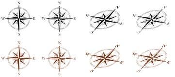 Kompasu wiatr Wzrastał Zdjęcia Royalty Free