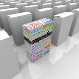Kompensationsfördelpacke mest generösa konkurrensarbetsgivare vektor illustrationer