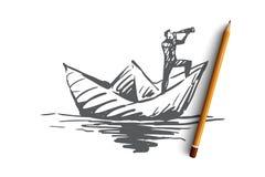 Kompetens jobb, expertis, ledning, effektivitetsbegrepp Hand dragen isolerad vektor vektor illustrationer