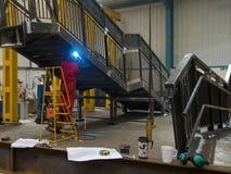 kompetent welder Royaltyfri Foto