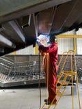 kompetent welder Royaltyfri Fotografi