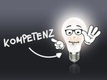 Kompetenz Bulb Lamp Energy Light gray Royalty Free Stock Photo