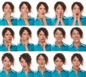 kompilacyjne aktor emocje stawiają czoło s Fotografia Stock