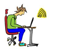 Working day. A working day ,men work vector illustration
