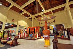 Langkawi Craft Complex. Or Cultural Craft Complex of Langkawi showcases & sells many beautifully designed art & craft reflecting Malaysia`s rich heritage royalty free stock image