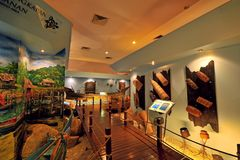 Langkawi Craft Complex. Or Cultural Craft Complex of Langkawi showcases & sells many beautifully designed art & craft reflecting Malaysia`s rich heritage stock photo