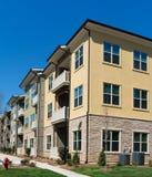 Kompleks apartamentów powierzchowności szczegóły zdjęcie royalty free